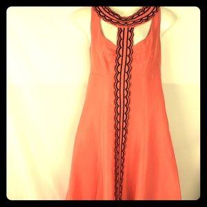 TRACY REECE dress silk taffeta sz 4 Anthropologie